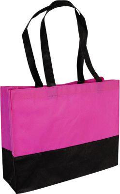 Shopper CITY, Boden-/Seitenfalte, inkl. Werbedruck 1-farbig 300 x 120 mm + Grundkosten, pink/schwarz