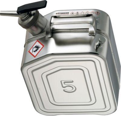 Sicherheitsbehälter, aus Edelstahl, 1 l, B 130 x T 200 x H 310 mm