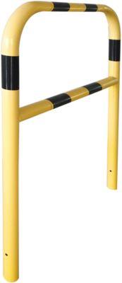 Sicherheitsgitter, zum Einbetonieren, L 1000 mm, gelb/schwarz