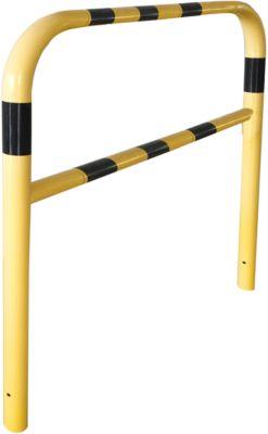 Sicherheitsgitter, zum Einbetonieren, L 2000 mm, gelb/schwarz