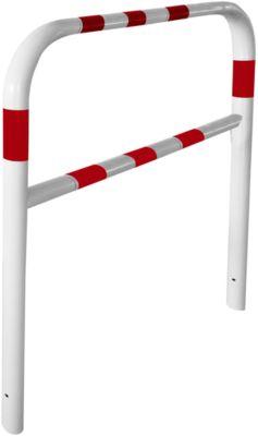 Sicherheitsgitter, zum Einbetonieren, L 2000 mm, weiß/rot