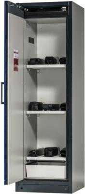 Sicherheitsschrank Battery Store 600, 3 Gitter + 1 Bodenauffangwanne, B 599 x T 615 x H 1953 mm