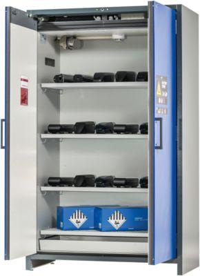 Sicherheitsschrank Battery Store Pro, 4 Gitter + 1 Bodenauffangwanne, B 1193 x T 615 x H 1953 mm