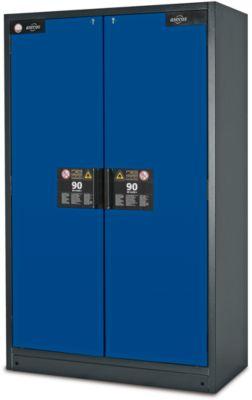 Sicherheitsschrank Typ 90, B 1200 mm, 6 Auszüge, enzianblau
