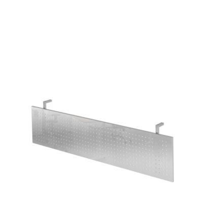 Sichtblende JENA, Metall, gelocht, B 1600 mm, verchromt