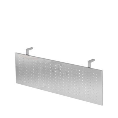 Sichtblende JENA, Metall, gelocht, B 800 x T 800 mm, verchromt