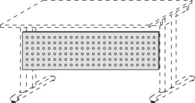 Sichtblende, Lochraster, B 1800 mm, alusilber
