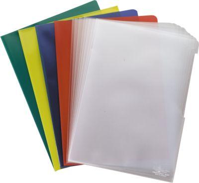Sichthüllen, DIN A4, farbig sortiert