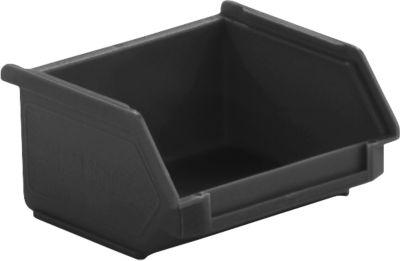 Sichtlagerkasten LF 110, ESD-leitfähig, schwarz, Außenmaße L 92 x B 102 x H 51 mm, Inhalt 0,3 L