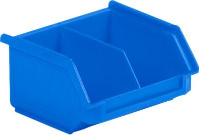 Sichtlagerkasten SSI Schäfer LF 110M, Polypropylen, L 92 x B 100 x H 50 mm, 0,26 l, blau