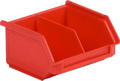 Sichtlagerkasten SSI Schäfer LF 110M, Polypropylen, L 92 x B 100 x H 50 mm, 0,26 l, rot