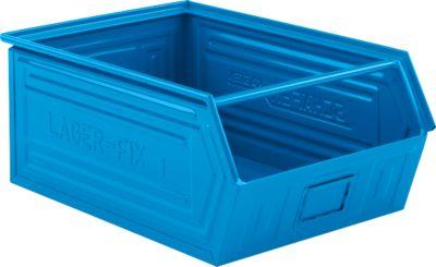 Sichtlagerkasten SSI Schäfer LF 14/7-1, Stahl, L 720 x B 480 x H 295 mm, 83 l, blau