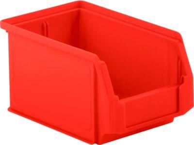 Sichtlagerkasten SSI Schäfer LF 221, Polypropylen, L 234 x B 150 x H 122 mm, 2,7 l, rot