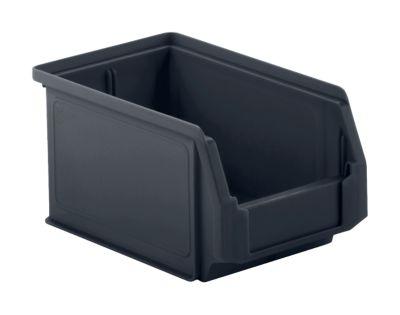 Sichtlagerkasten SSI Schäfer LF 221, recycelter Kunststoff, L 234 x B 150 x H 122 mm, 2,7 l, eisengrau, 25 Stück