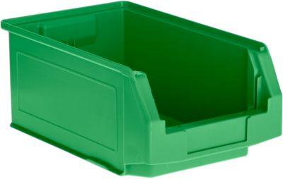 Sichtlagerkasten SSI Schäfer LF 321, Polypropylen, L 343 x B 209 x H 145 mm, 7,5 l, grün
