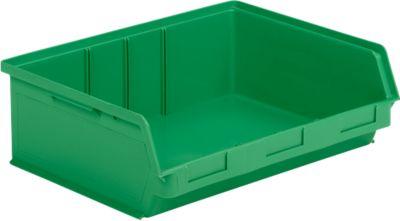 Sichtlagerkasten SSI Schäfer LF 351 ZW, Polypropylen, L 348 x B 470 x H 145 mm, 17 l, grün