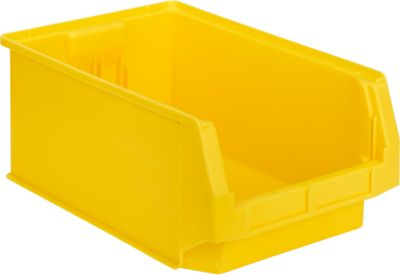 Sichtlagerkasten SSI Schäfer LF 532, Polypropylen, L 500 x B 312 x H 200 mm, 23,5 l, gelb
