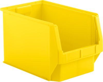Sichtlagerkasten SSI Schäfer LF 533, Polypropylen, L 500 x B 312 x H 300 mm, 38 l, gelb