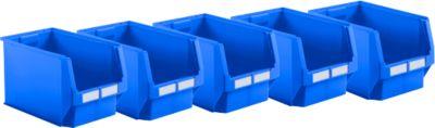 Sichtlagerkasten SSI Schäfer LF 533, Polypropylen, L 500 x B 320 x H 300 mm, 38 l, blau, 5 Stück