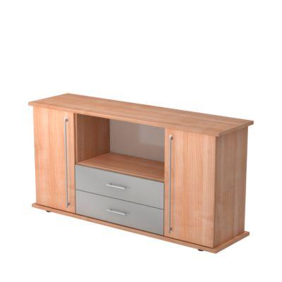 Sideboard met 2 laden, notenhoutdecor