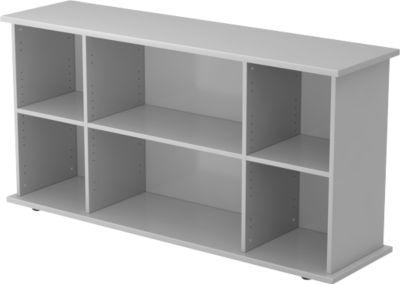 Sideboard TARA, B 1661 x T 448 x H 840 mm, lichtgrau