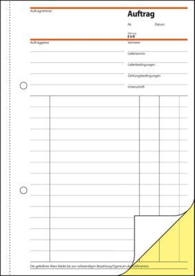 Sigel Auftrag SD001, DIN A5 hoch, 2 x 40 Blatt