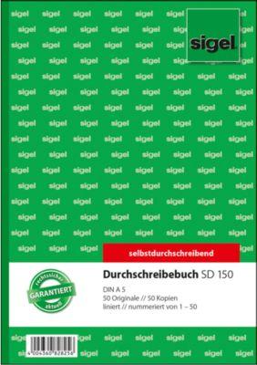 Sigel Durchschreibebuch SD150, DIN A5, liniert, 2 x 50 Blatt