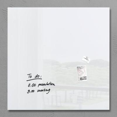 sigel® Glas- Magnettafel artverum®, 1000 x 1000 mm, weiß
