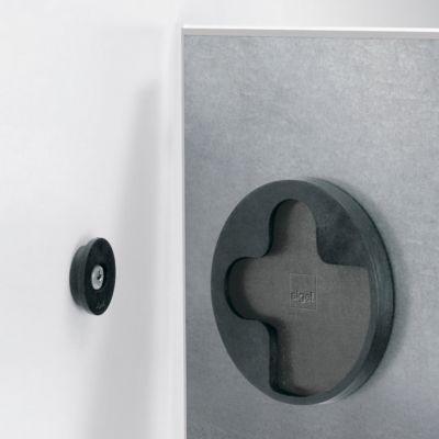 sigel® Glas-Magnettafel artverum®, 480 x 480 mm, schwarz