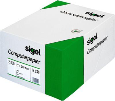 sigel® kettingpapier, A4 staand, enkel, blanco, 60 g/m²