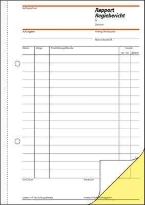 sigel® Rapport/Regiebericht SD027, DIN A5 hoch, 2 x 40  Blatt, selbstdurchschreibend