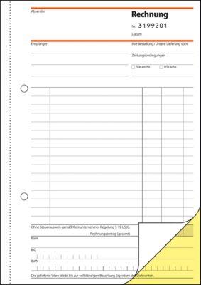 sigel® Rechnung SD130 für Kleinunternehmer, ohne MWSt-Ausweis, fortlfd. Nummer