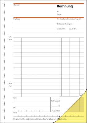 sigel® Rechnungsbuch SD031, DIN A5 hoch, 2 x 40 Blatt, selbstdurchschreibend