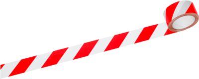 Signalband, rot/weiß, 6 Rollen