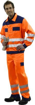 Signalisatie-broek met tailleband, oranje/blauw, maat 44