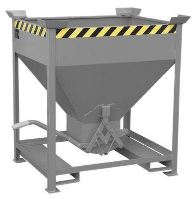 Silobehälter Typ SG 375, Einfahrtaschen, Inhalt 375 Liter, grau RAL 7005