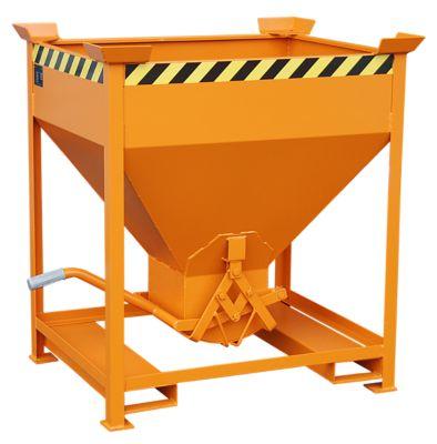 Silobehälter Typ SG 375, Einfahrtaschen, Inhalt 375 Liter, orange RAL 2000
