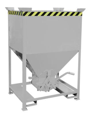 Silobehälter Typ SG 600, Einfahrtaschen, Inhalt 600 Liter, verzinkt