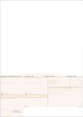 Simfacture Einzahlungsschein BESR orange gerahmt, 500 Blatt