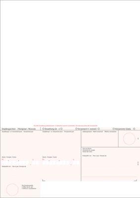 Simfacture Einzahlungsschein ES rot geboxt, 100 Blatt
