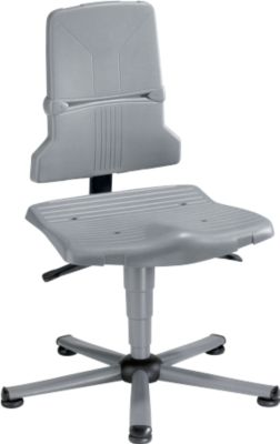 SINTEC 2 werkstoel, met glijders en zitneigingsverstelling