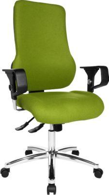 SITNESS 55 bureaustoel, Nord Wool, met armleuningen, groen