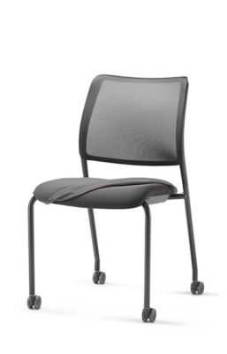Sitz-Husse, für Besucherstuhl to-sync meet, nachrüstbar, grau