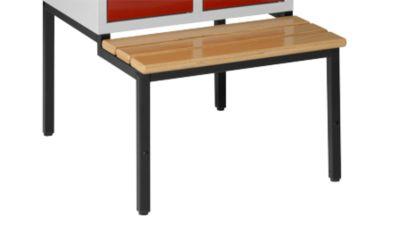 Sitzbank, schwarz m. 3 Buchenholzleisten, 630 mm breit
