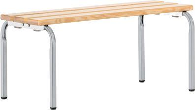 Sitzbank, stapelbar, weißalu, L 1015 mm