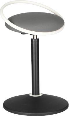 Sitzhocker ROVO SOLO mit Ring, 3D-Gestrick, weiß/grau
