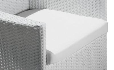 Sitzkissen für Lounge-Sessel Poesie, weiß