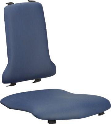 Sitzpolster für Arbeitsstuhl bimos SINTEC/SINTEC 2, auswechselbar, Kunstleder, antibakteriell, blau