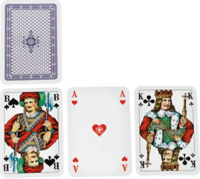 Skat-Spielkarten, inkl. blauer Werbeanbringung