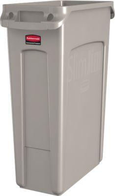 Slanke Jim® afvalbak, 87 liter, beige, 87 liter